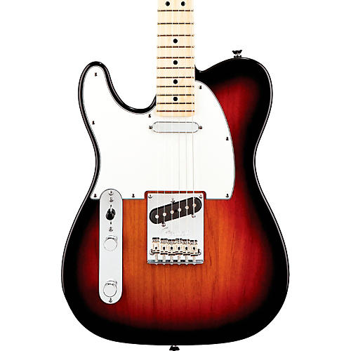Fender American Standard Telecaster Left-Handed Electric Guitar with Maple Fingerboard 3-Color Sunburst Maple Fingerboard