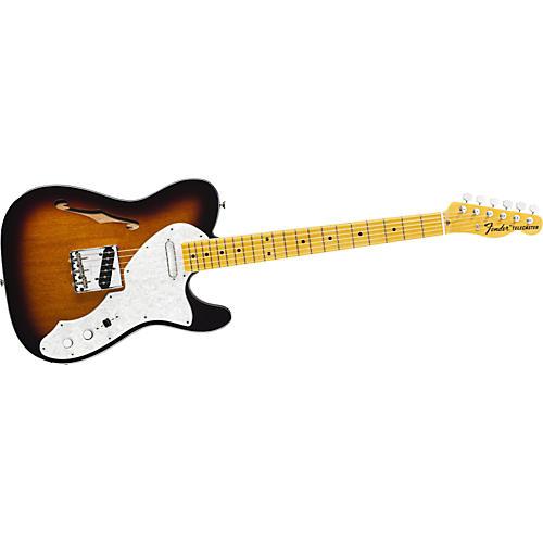 Fender American Vintage '69 Telecaster Thinline Electric Guitar 2-Color Sunburst Maple Fretboard