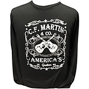 Martin America's Dual Guitar Logo - Long Sleeve Black T-Shirt