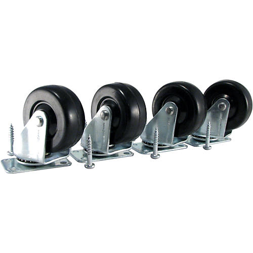 Ernie Ball Amp Caster Standard Plate Mount Set of 4-thumbnail