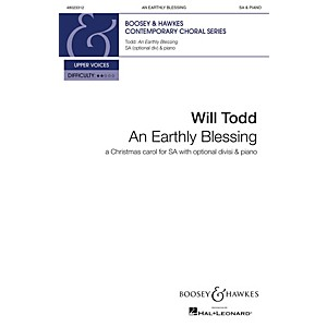 Boosey and Hawkes An Earthly Blessing Christmas Carol for SA with optional... by Boosey and Hawkes