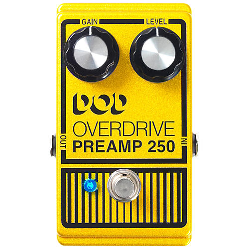 DOD Analog Overdrive Preamp 250 Guitar Effects Pedal with True-Bypass and LED