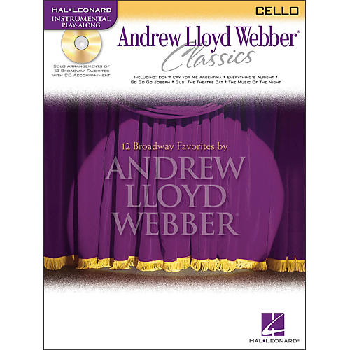 Hal Leonard Andrew Lloyd Webber Classics for Cello Book/CD