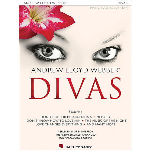 Hal Leonard Andrew Lloyd Webber Divas arranged for piano, vocal, and guitar (P/V/G)