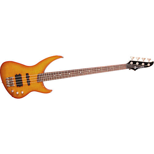 Luna Guitars Andromeda Flame Bass Guitar