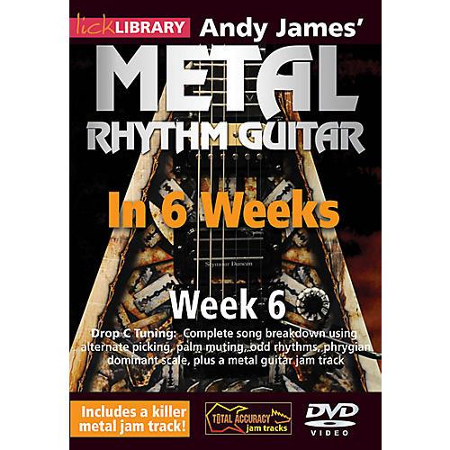 Licklibrary Andy James' Metal Rhythm Guitar in 6 Weeks (Week 6) Lick Library Series DVD Performed by Andy James