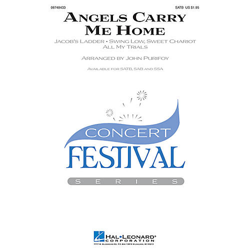 Hal Leonard Angels Carry Me Home (Medley) SATB arranged by John Purifoy