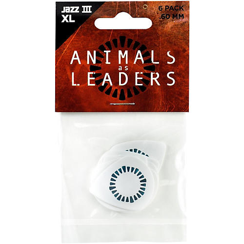 Dunlop Animals as Leaders Tortex Jazz III, White Guitar Picks-thumbnail