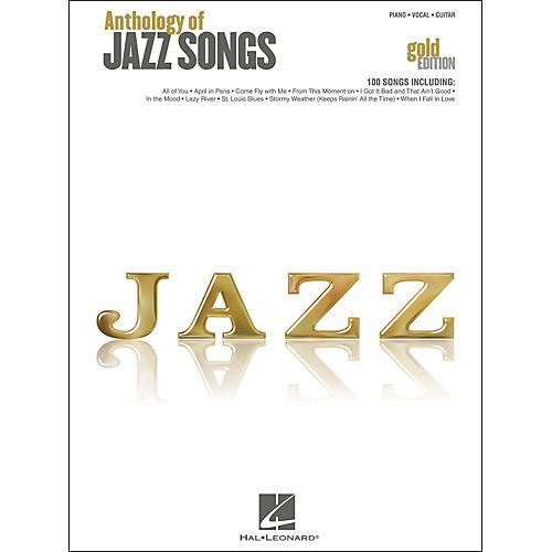 Hal Leonard Anthology Of Jazz Songs - Gold Edition arranged for piano, vocal, and guitar (P/V/G)-thumbnail