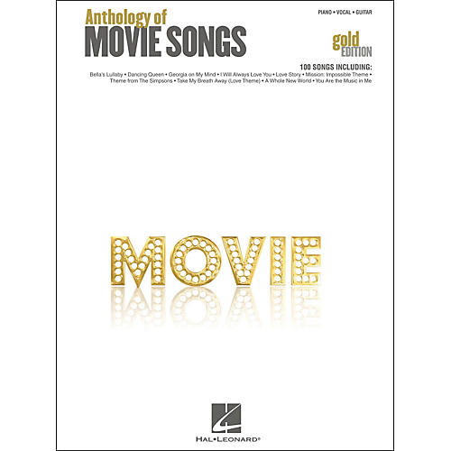 Hal Leonard Anthology Of Movie Songs - Gold Edition arranged for piano, vocal, and guitar (P/V/G)-thumbnail