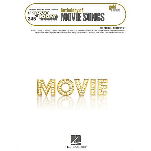 Hal Leonard Anthology Of Movie Songs Gold Edition E-Z Play 345