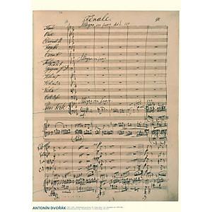 Axe Heaven Antonin Dvorak Music Manuscript Poster - Piano Concerto in G min...