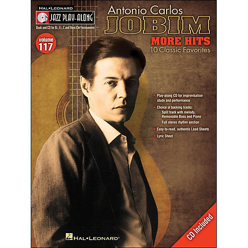 Hal Leonard Antonio Carlos Jobim: More Hits - Jazz Play-Along Volume 117 (CD/Pkg)