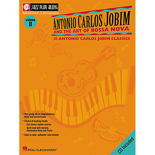Hal Leonard Antonio Carlos Jobim and The Art Of Bossa Nova Jazz Play Along Volume 8 Book with CD