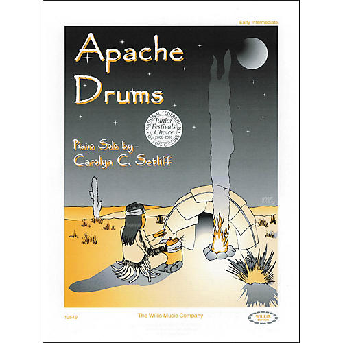 Willis Music Apache Drums Early Intermediate Piano Solo by Carolyn Setliff-thumbnail