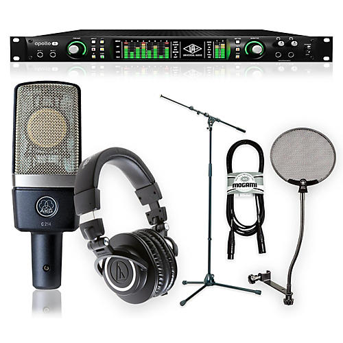 Universal Audio Apollo 8 Thunderbolt Duo, ATH-M50x and C214 Package-thumbnail