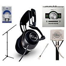 Universal Audio Apollo Twin DUO Black Lola Headphones and Spark Mic Package