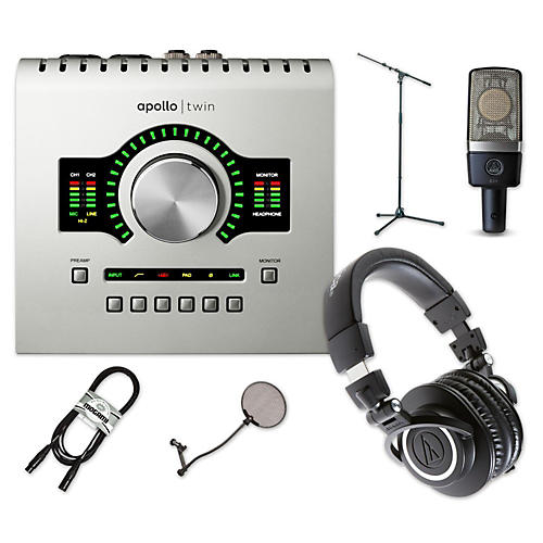 Universal Audio Apollo Twin SOLO, ATH-M50x and C214 Package-thumbnail