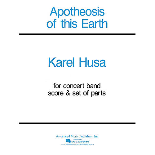 Associated Apotheosis of This Earth (Score and Parts) Concert Band Level 4-5 Composed by Karel Husa