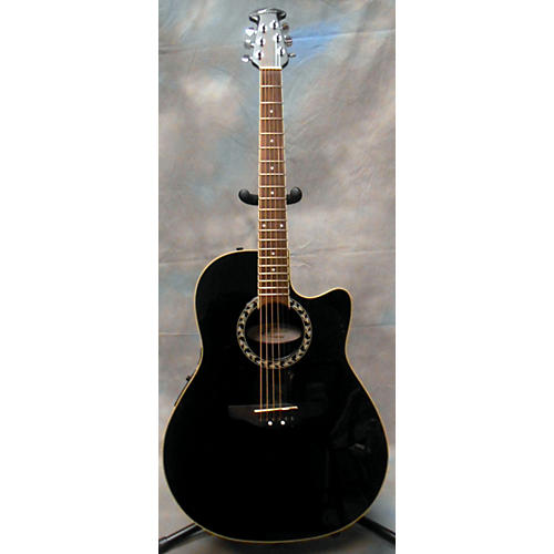 Ovation Applause AE128 Black Acoustic Electric Guitar-thumbnail