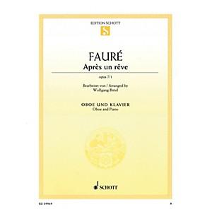 Schott Apr��s un r��ve, Op 7/1 Arranged for Oboe and Piano Woodwind Series ...