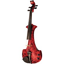 Bridge Aquila Series 4-String Electric Violin Level 1 Red Marble