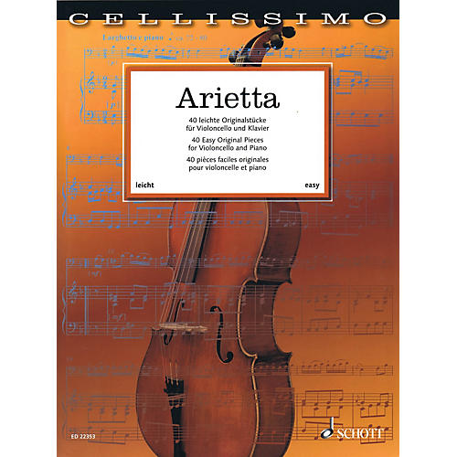 Schott Arietta - 40 Easy Original Pieces for Cello and Piano String Series Softcover