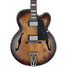 Artcore Vintage Series AFV10A Hollowbody Electric Guitar Tobacco Burst Low Gloss