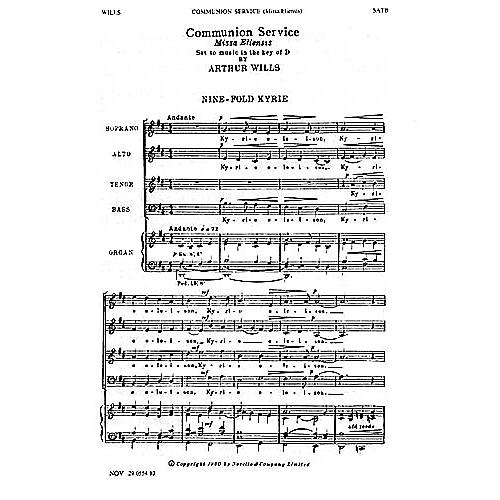 Music Sales Arthur Wills: Communion Service (Missa Eliensis) SATB