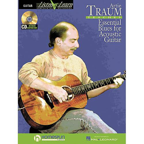 Homespun Artie Traum Teaches Essential Blues for Acoustic Guitar (Book/CD)