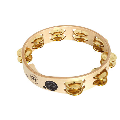 Meinl Artisan Edition Tambourine Two Rows Brass Jingles 10 in.