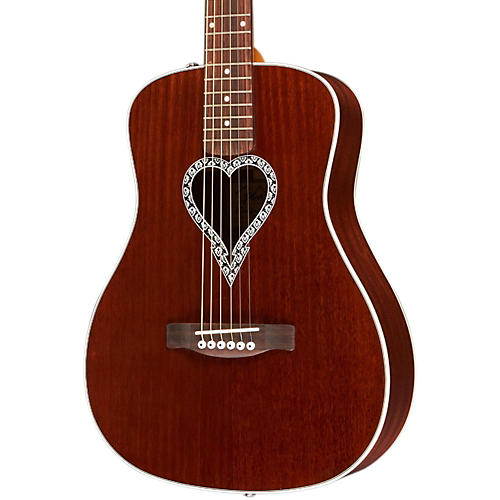 Fender Artist Design Series Alkaline Trio Malibu Mahogany Dreadnought Acoustic Guitar-thumbnail