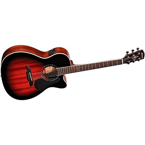 Alvarez Artist Series 66 OM/Folk All Mahogany Solid Top Acoustic-Electric Guitar-thumbnail
