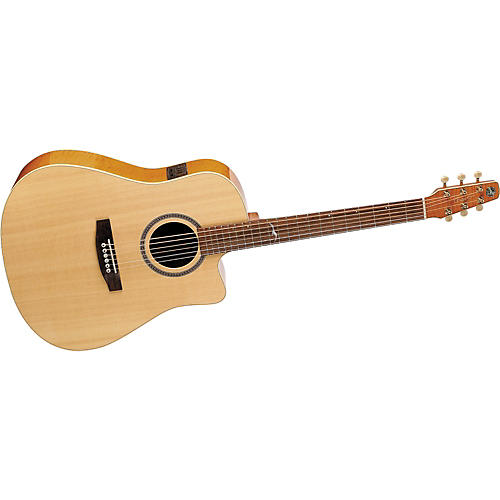 Seagull Artist Series Cameo Dreadnought Cutaway i-Beam Acoustic-Electric Guitar with Deluxe Case