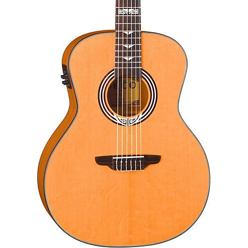 Luna Guitars Artist Series Deco All Solid Wood Grand Auditorium Acoustic-Electric Nylon Guitar Natural