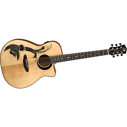 Luna Guitars Artist Series Phoenix Folk Cutaway Acoustic-Electric Guitar