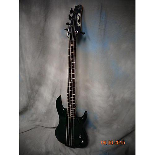 used samick artist series trans green electric bass guitar guitar center. Black Bedroom Furniture Sets. Home Design Ideas