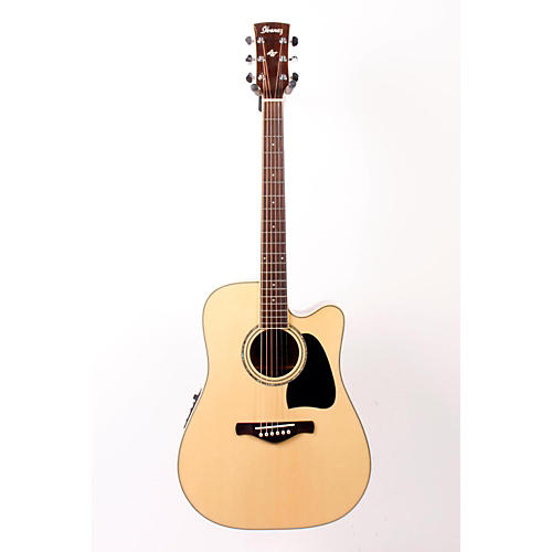Ibanez Artwood AW300ECE Solid Top Dreadnought Cutaway Acoustic-Electric Guitar