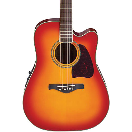 Ibanez Artwood Series AW300ECE Solid Top Dreadnought Cutaway Acoustic-Electric Guitar