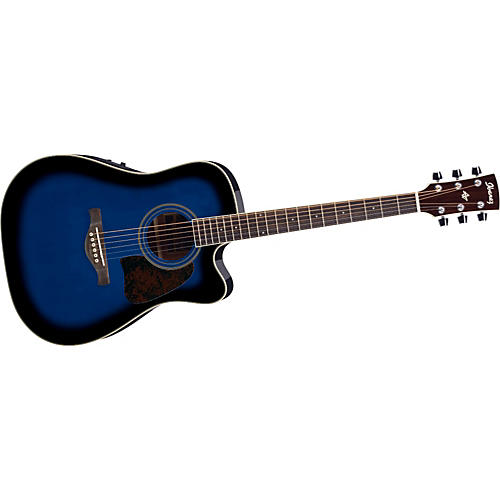 Ibanez Artwood Series AW70ECE Solid Top Dreadnought Cutaway Acoustic-Electric Guitar-thumbnail