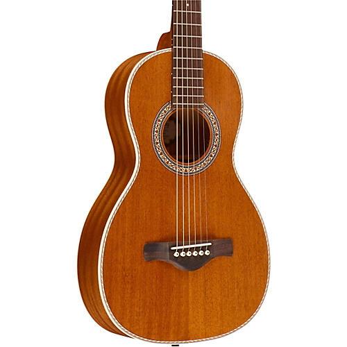 Ibanez Artwood Vintage All Mahogany Parlor Acoustic Electric Guitar-thumbnail