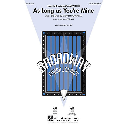 Hal Leonard As Long as You're Mine (from Wicked) ShowTrax CD Arranged by Mark Brymer
