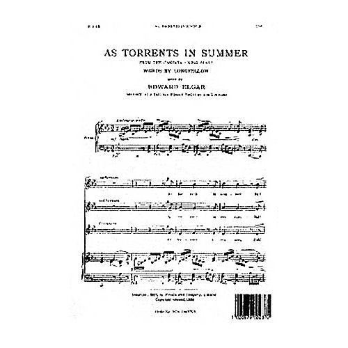 Novello As Torrents in Summer SSA Composed by Edward Elgar