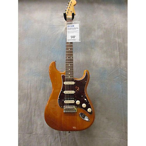 Fender Ash Player Stratocaster HSS Solid Body Electric Guitar Trans Amber