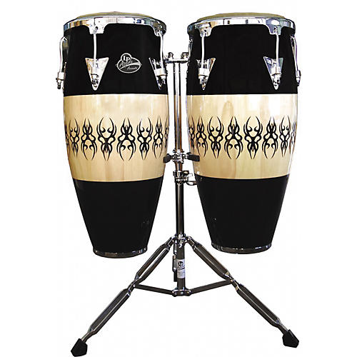 LP Aspire Accent Wood Conga Set with Scarab Finish and Stand-thumbnail