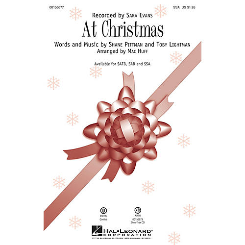 Hal Leonard At Christmas SSA by Sara Evans arranged by Mac Huff
