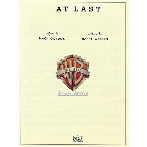 Alfred At Last Sheet Music By Harry Warren Standard