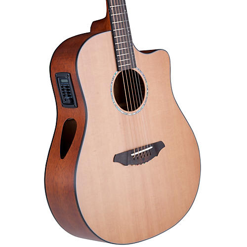 Breedlove Atlas Series Solo D350/CMe Dreadnought Acoustic-Electric Guitar Natural