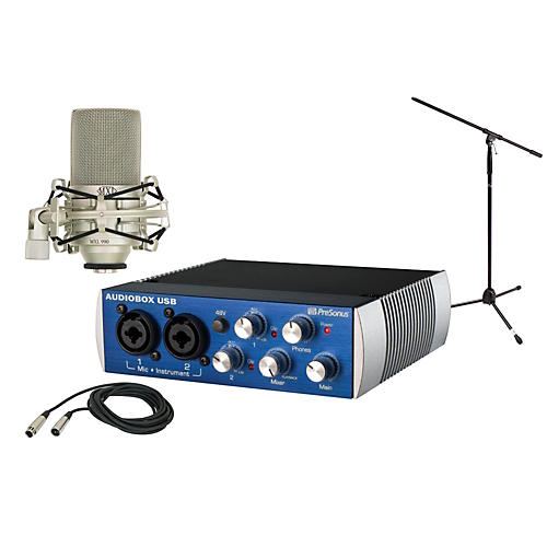 Presonus AudioBox USB 2x2 MXL Package