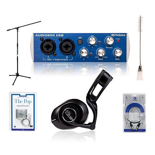Presonus Audiobox Black Lola Headphones and Spark Mic Package